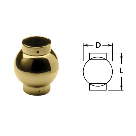 Ball Parallel Outlets in Brass