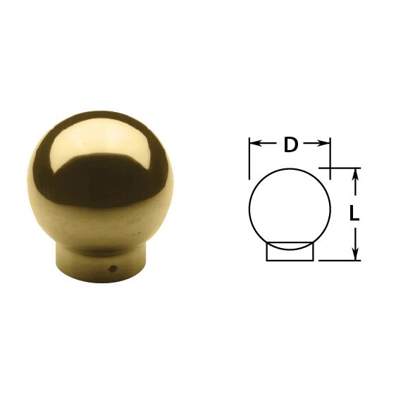 "1-1/2"" Brass Ball Single Outlet"
