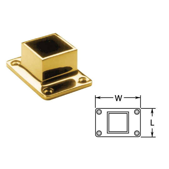 "Cut Square Flanges in Brass for 1-1/2"" and 2"" Tubing"