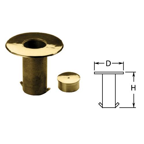 """2"""" Brass Floor Socket with Cap"""
