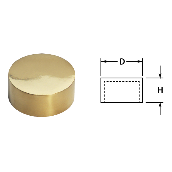 "2"" Brass Outer End Cap"