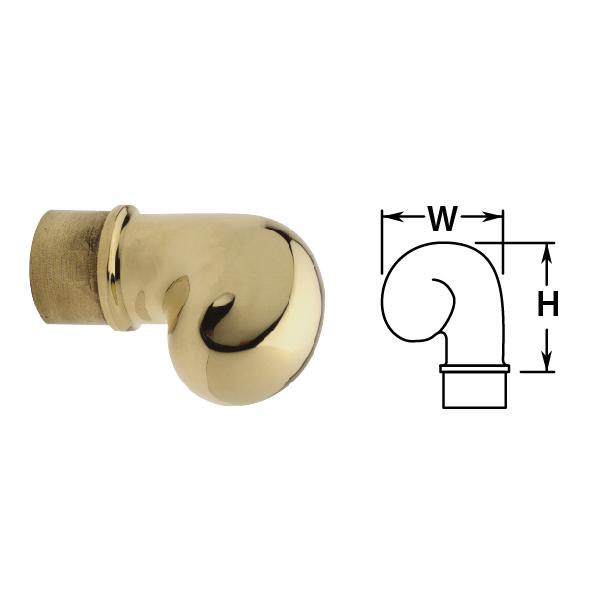 Scroll Finials in Brass