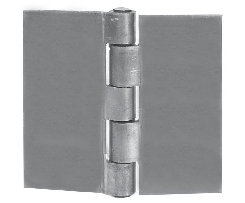 """4"""" x 4"""" Steel Butt Welding Hinge, No Holes"""