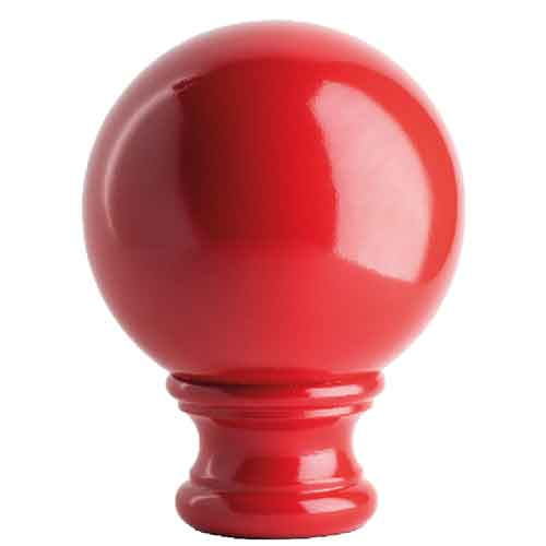 """3-1/2""""  Sphere Post Top, Red, base of 2-1/8"""" dia."""