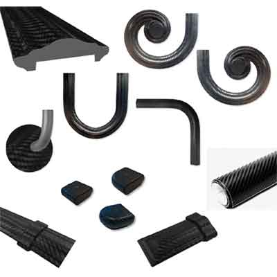 Carbone Series Handrail and Fittings by Grande Forge