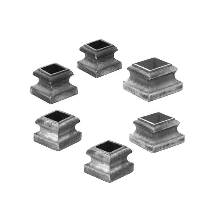 """Cast Aluminum Base Shoes for 1/2"""" to 1-1/2"""" sq. Bar"""