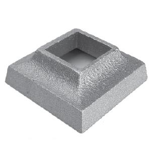 "Base Shoe for 1"" sq., Cast Aluminum, 1"" Tall"