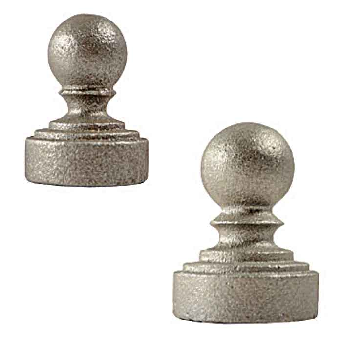 """Cast Iron Ball Caps for 1-1/4"""" and 1-1/2"""" Schedule 40 Pipe"""