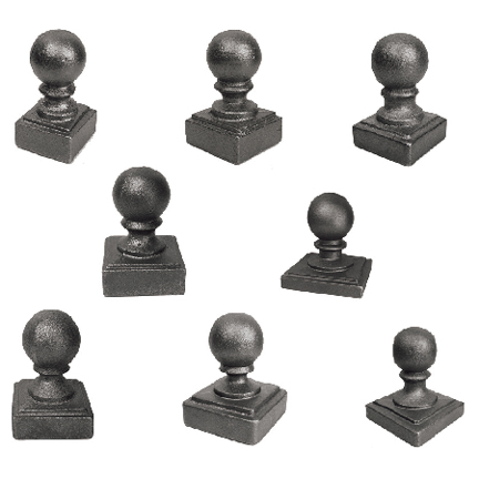 "Ball Caps in Cast Iron for 1"" to 6"" Square Bar"