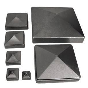 "Cast Iron Pyramid Caps for 1"" to 8-1/2"" Square Bar"