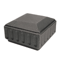 """Cast Iron Caps for 2"""", 3"""" or 4"""" Square"""