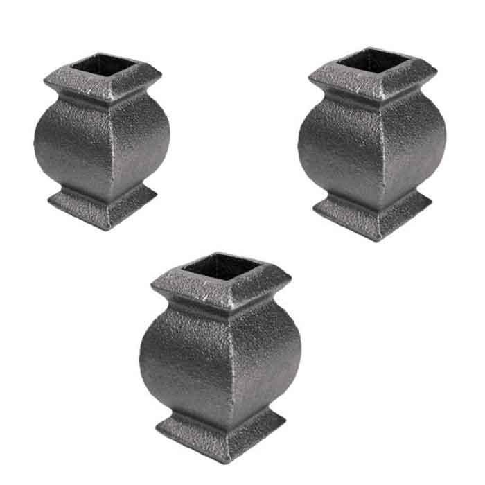 """Curvy Picket Collars in Cast Iron for 1/2"""",  5/8"""" and 3/4"""" Square Bar"""