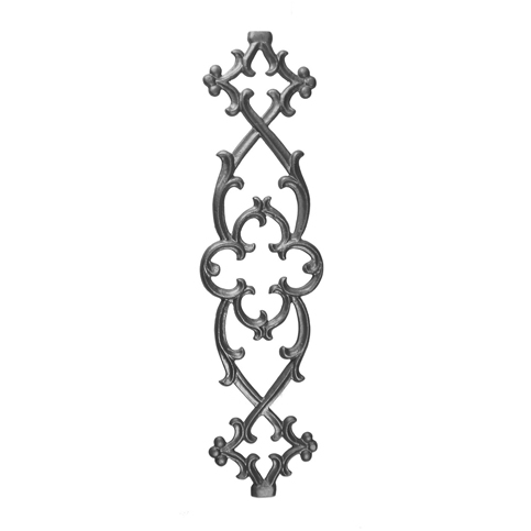 """28-1/2"""" Tall Cast Iron Panel, Traditional Style, Double Faced"""