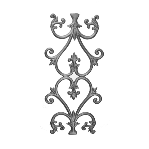 """23-5/8"""" Tall Cast Iron Panel, Olde Victorian Style, Double Faced"""