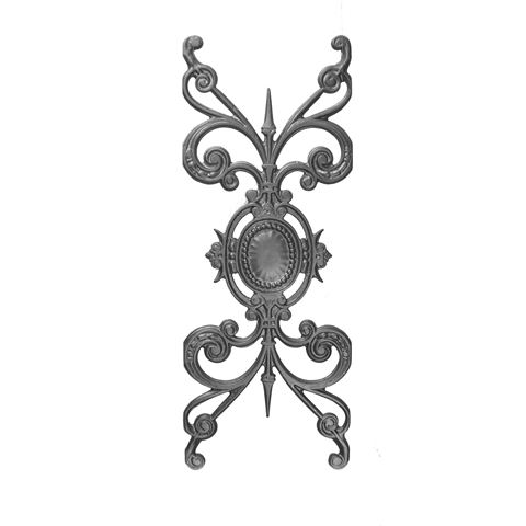 """23-1/2"""" Tall Cast Iron Panel, Medallion Style, Double Faced"""