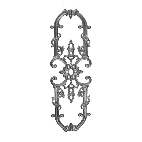 """26-3/4"""" Tall Cast Iron Panel, Classic Style, Double Faced"""