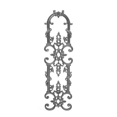 """31"""" Tall Cast Iron Panel, Classic Style, Double Faced"""