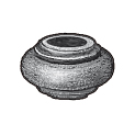 """Picket Collar for 5/8"""" dia., Cast Iron, 3/4"""" Tall"""