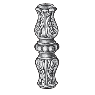 """Picket Collar for 5/8"""" dia., Cast Iron, 4-1/2"""" Tall"""