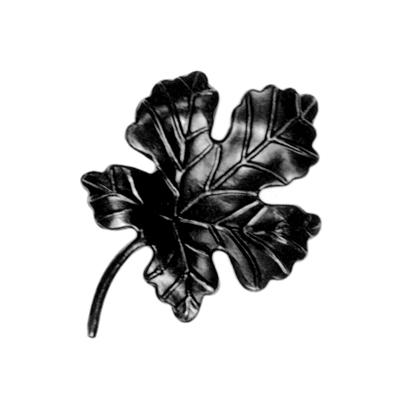 """Cast Steel Grape Leaf w/Stem, 5/16"""" Thick, 6-1/8"""" Tall"""