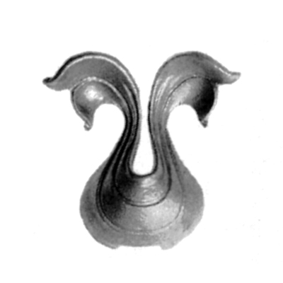 "3-3/4"" Tall Cast Steel Leaf, Single Sided"