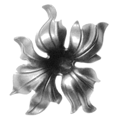 "Cast Steel Lily Flower, 6-5/16"" dia."