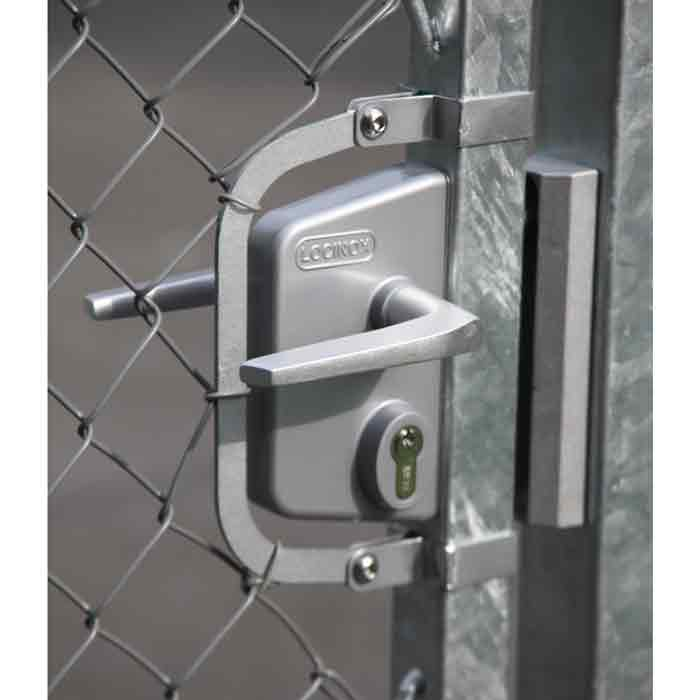 Chain Link Gate Locks Kits w/Industrial Lock in either Silver or Black