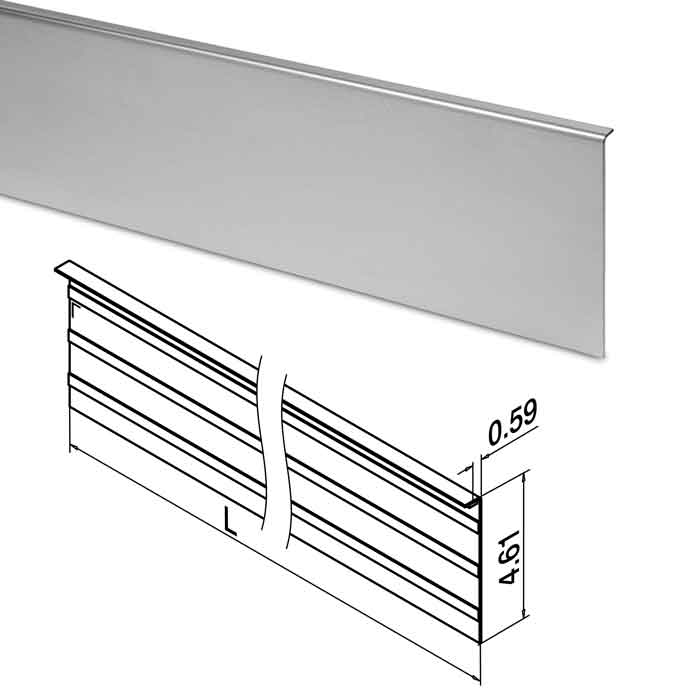 Cladding, 10FT, 316 Stainless Steel, Top Mount, Easy Glass Smart