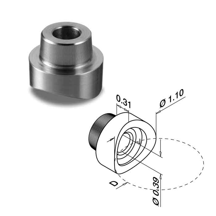"""Connector for 1.9"""" dia. Round Post"""