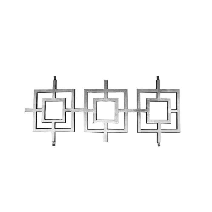 "23-1/8"" Tall Cast Aluminum Panel, Contemporary Design, w/Weld Tabs"