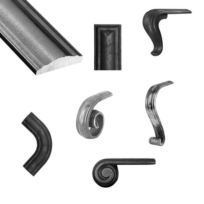 Convex Handrail and Matching Fittings