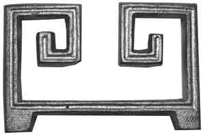 Curved Greek Key in Aluminum