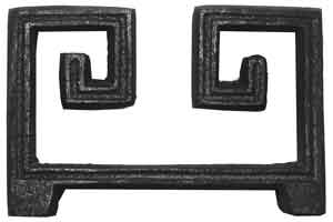 Curved Greek Key in Cast Iron