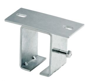 Ceiling Support for 24-MEDIO Track, Overhead Mount, Galvanized