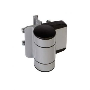 DINO Adjustable Hinge, Surface Mounted, 180 degree Double Bearing, Gates up to 330 lbs., Silver, Sold Individually