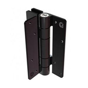 Aluminum Adjustable Self-Closing Gate Hinge, Wall or Post Mounted, Pair with Screws - Bronze