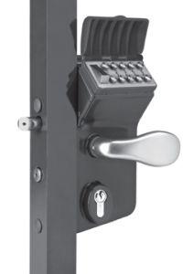 "Vinci Mechanical Code Lock for Swing Gates, Fits 1-1/2""-2"" Tube, Black"