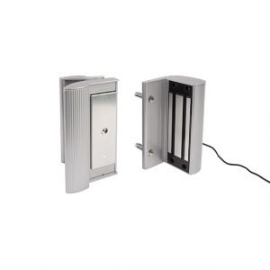 Electro Magnetic Lock with Handle, 1200 lbs. pulling force, Silver