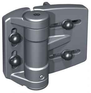 """TruClose Heavy Duty Self-Closing Hinges for 1-7/8"""" - 2"""" Round Posts"""