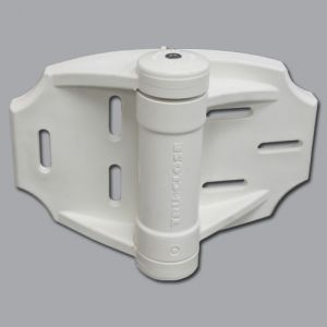 TruClose 3-Way Adjustable, Self-Closing Hinges for Wood & Vinyl Gates, White