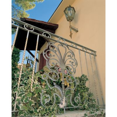 Scroll Panel Balcony Railing Design