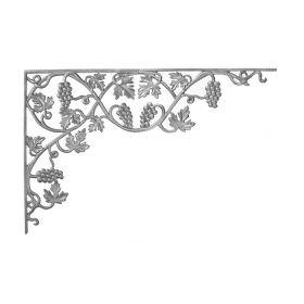 "21-1/4"" Tall 2 Piece Cast Iron Corner Bracket, Vineyard Style, Double Faced"