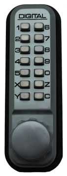 2900 Keyless Mechanical Mortised Deadbolt Door Lock for Narrow Stile Doors - Marine Grade