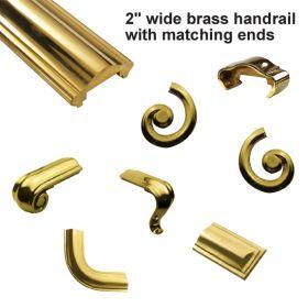 """2"""" Brass Handrail Ends"""