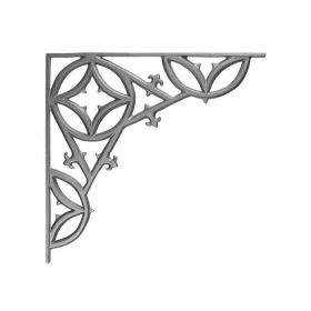 """20"""" Tall Cast Iron Corner Bracket, Traditional Style, Double Faced"""