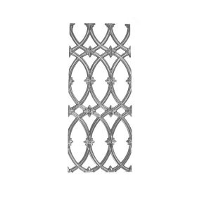 """27-3/4"""" Tall Cast Iron Panel, Cathedral Style, Double Faced"""