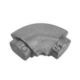 Round Corner Bend, Cast Iron, use with Tubular Handrail THR