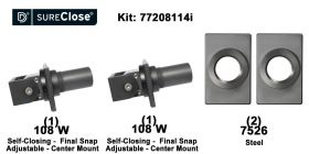 Double 108 W/Self Closing -up to 260 lbs-Center Mount (Weld-On) Hinge Kit