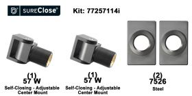 Double 57 W/Self Closing -up to 180 lbs-Center Mount (Weld-On) Hinge Kit