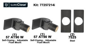 Double 57 AT90 W/Self Closing -up to 180 lbs-Flush Mount (Weld-On) Hinge Kit